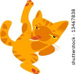 vector illustration of cat | Shutterstock .eps vector #13467838