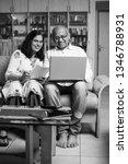 senior indian asian couple... | Shutterstock . vector #1346788931