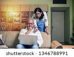 senior indian asian couple... | Shutterstock . vector #1346788991
