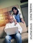 senior indian asian couple... | Shutterstock . vector #1346788994