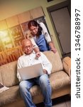 senior indian asian couple... | Shutterstock . vector #1346788997