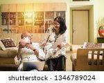 senior indian asian couple... | Shutterstock . vector #1346789024