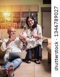 senior indian asian couple... | Shutterstock . vector #1346789027