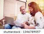 senior indian asian couple... | Shutterstock . vector #1346789057