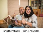 senior indian asian couple... | Shutterstock . vector #1346789081