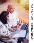 senior indian asian couple... | Shutterstock . vector #1346789147