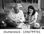 senior indian asian couple... | Shutterstock . vector #1346799761