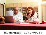 senior indian asian couple... | Shutterstock . vector #1346799764