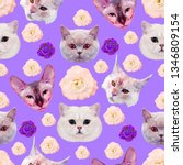 Seamless Minimal  Pattern. Cat...