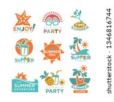 summer holidays or party and... | Shutterstock . vector #1346816744