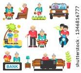 older people life style  flat...   Shutterstock . vector #1346816777