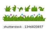 green grass.  illustration. | Shutterstock . vector #1346820857