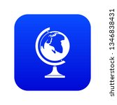 globe icon digital blue for any ... | Shutterstock .eps vector #1346838431