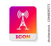 white antenna icon isolated on... | Shutterstock .eps vector #1346839271