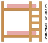 bunk beds icon with flat style. ... | Shutterstock .eps vector #1346865491