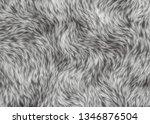 fleece soft shaggy animal pelt | Shutterstock . vector #1346876504