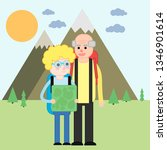camping pensioners vector   Shutterstock .eps vector #1346901614