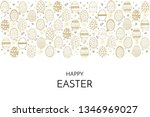 happy easter greeting card.... | Shutterstock . vector #1346969027