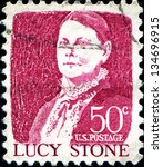Small photo of USA - CIRCA 1965: A stamp printed in United States of America shows Lucy Stone, American abolitionist and suffragist, circa 1965