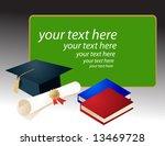 graduation mortar board and... | Shutterstock .eps vector #13469728