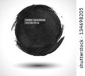 grunge vector background. round ... | Shutterstock .eps vector #134698205