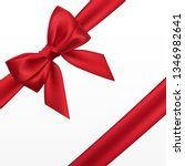 realistic red bow. element for... | Shutterstock . vector #1346982641