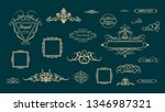 huge rosette wicker border... | Shutterstock .eps vector #1346987321
