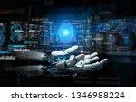 intelligent robot machine using ... | Shutterstock . vector #1346988224