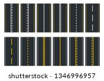 set of seamless road types.... | Shutterstock .eps vector #1346996957