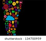 social media background ... | Shutterstock .eps vector #134700959