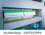 wiring plc control panel with... | Shutterstock . vector #1347013994