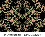 seamless pattern with stylized... | Shutterstock .eps vector #1347023294