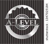 a level silver shiny emblem | Shutterstock .eps vector #1347025184