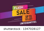 flash sale design for business... | Shutterstock .eps vector #1347028127
