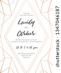 wedding invite  invitation save ... | Shutterstock .eps vector #1347046187