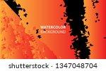 colorful watercolor splash... | Shutterstock .eps vector #1347048704