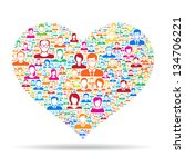 heart icon social media concept | Shutterstock .eps vector #134706221
