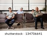 multiethnic people waiting for... | Shutterstock . vector #134706641