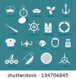 airplane and boat elements  ... | Shutterstock .eps vector #134706845