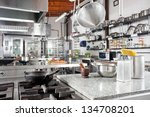 variety of utensils on counter... | Shutterstock . vector #134708201