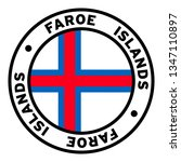 round faroe islands flag clipart | Shutterstock .eps vector #1347110897