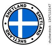 round shetland flag clipart | Shutterstock .eps vector #1347113147
