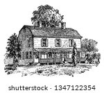petersfield  the residence of... | Shutterstock .eps vector #1347122354