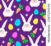colorful seamless easter... | Shutterstock .eps vector #1347124154