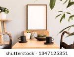 Stylish And Sunny Interior Of...