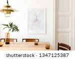 Stylish And Modern Dining Room...