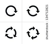 4 arrow pictogram refresh... | Shutterstock . vector #134712821
