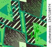 grunge geometric pattern for... | Shutterstock .eps vector #1347138974