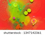 red and green paint background... | Shutterstock . vector #1347142361