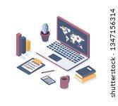 isometric vector illustration.... | Shutterstock .eps vector #1347156314